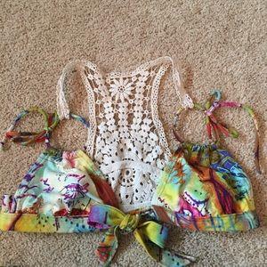 Paradizia Swim - Rare Paradizia Swimwear Postal Crochet Back Bikini
